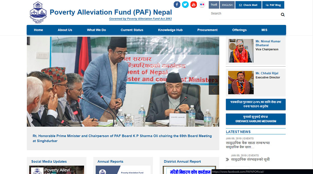 Poverty Alleviation Fund (PAF) Nepal